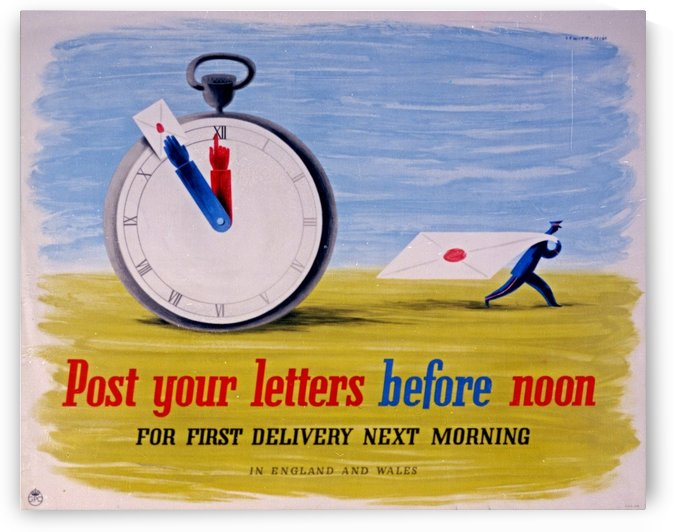 Post your letters before noon by VINTAGE POSTER