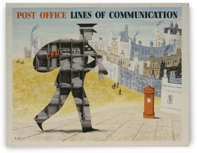Post Office Lines of Communication by VINTAGE POSTER