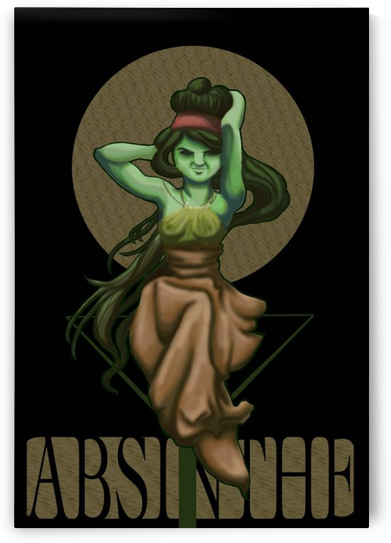 Green Fairy Absinthe Poster by VINTAGE POSTER