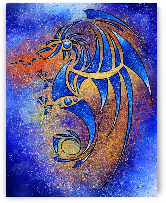 Dragissous V1 - blue dragon by Cersatti Art