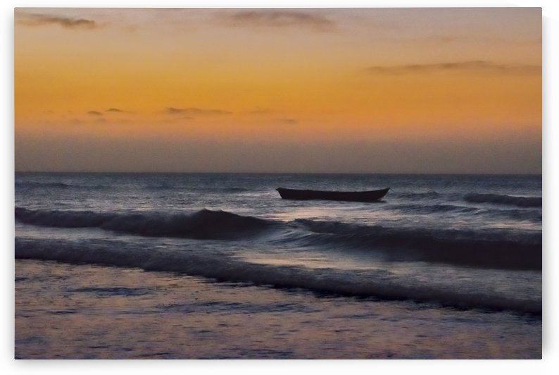 Small Boat at Sea Jericoacoara Brazil by Daniel Ferreia Leites Ciccarino