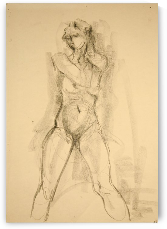 Female Nude Study by Christina E Sherlock