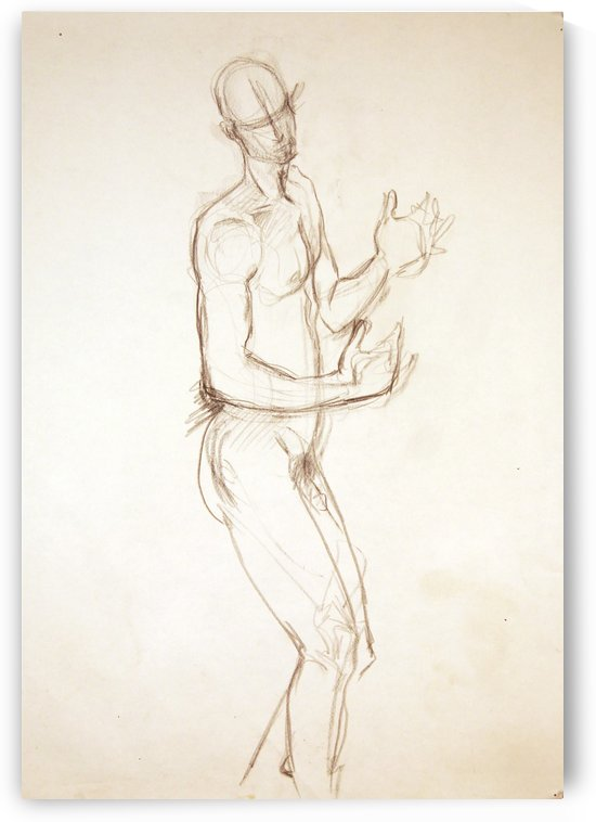 Male Nude Study by Christina E Sherlock