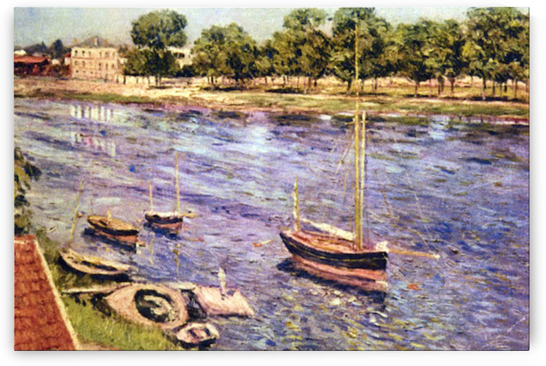 The Marne by Caillebotte by Caillebotte