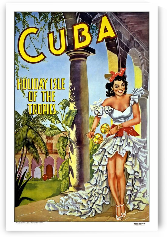 Cuba Holiday Isle of the Tropics poster by VINTAGE POSTER
