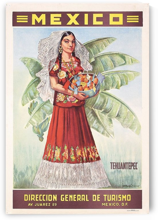 Mexico Tehuantepec vintage poster by VINTAGE POSTER