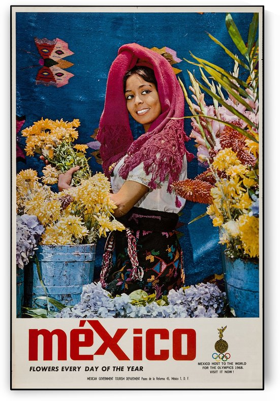 Mexico Flowers every day of the year by VINTAGE POSTER