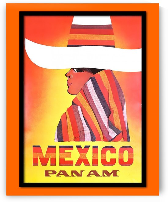 Mexico Travel Print 1968 by VINTAGE POSTER