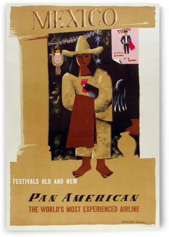 Mexico Pan American Poster by VINTAGE POSTER