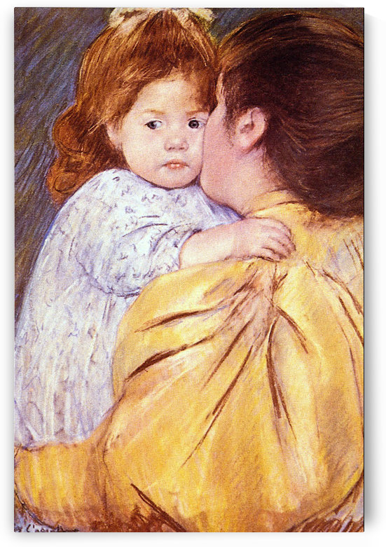 The Maternal Kiss by Cassatt by Cassatt