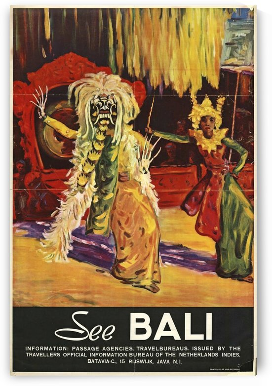 See Bali by VINTAGE POSTER