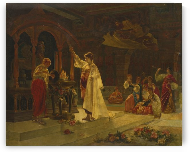 Vestal virgins by Edouard Frederic Wilhelm Richter