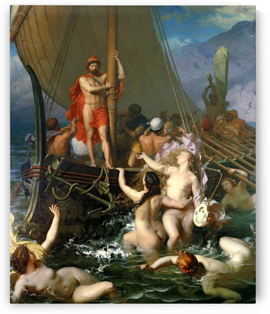 Ulysses and the sirens by Leon Auguste Adolphe Belly