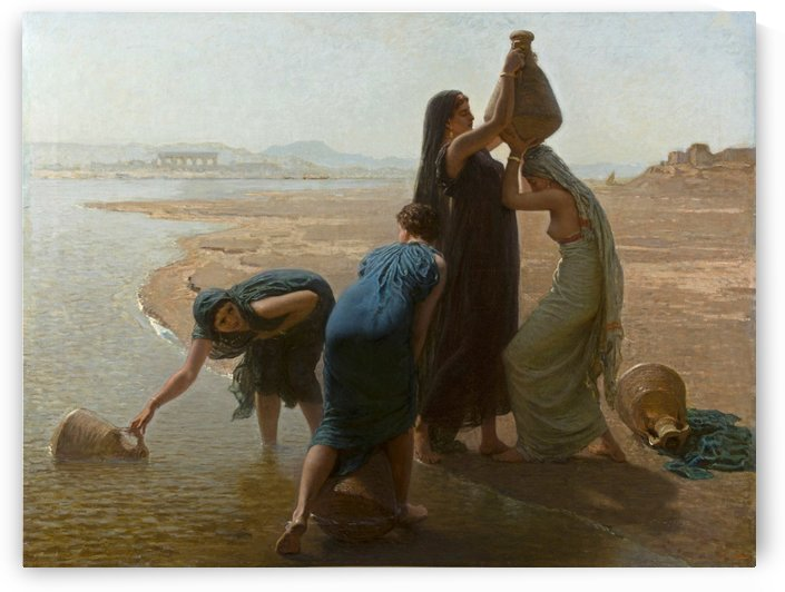 The water carriers by Leon Auguste Adolphe Belly