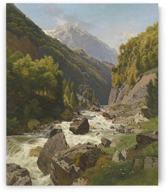 Schlucht am Lohnsbach bei Glarns by Johann Gottfried Steffan