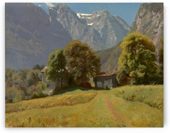 In the Nesttal, Canton Glarus by Johann Gottfried Steffan