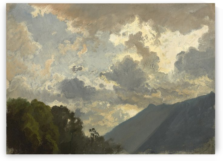 Study of Clouds, 1860 by Johann Gottfried Steffan