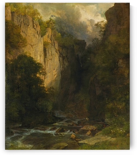 Canyon of Murgbachs, 1873 by Johann Gottfried Steffan
