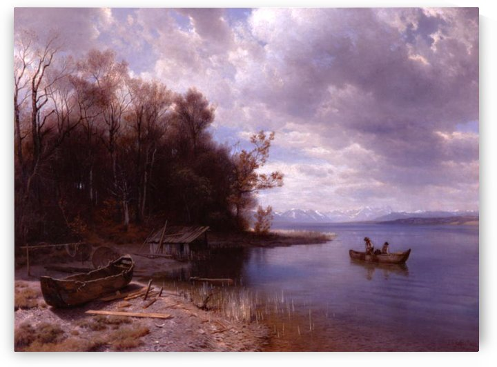 Early spring on Starnbergersee, 1886 by Johann Gottfried Steffan