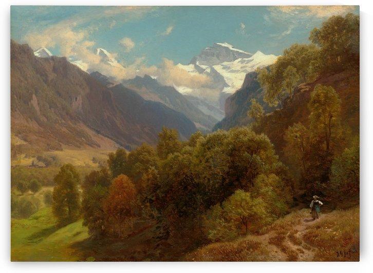 Blick auf Eiger, monch und Jungfrau by Johann Gottfried Steffan
