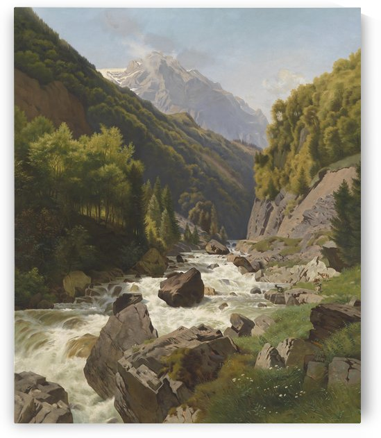 Schlucht am Lohn bach bei Glarns by Johann Gottfried Steffan