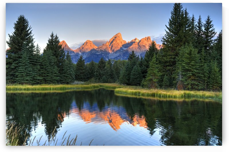 Beavers View of Tetons by Dennis Blum