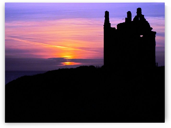 Dunskey Castle Sunset by Andy Jamieson