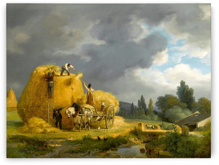The Harvest by Auguste-Xavier Leprince