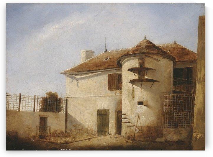 Un corps de ferme by Auguste-Xavier Leprince