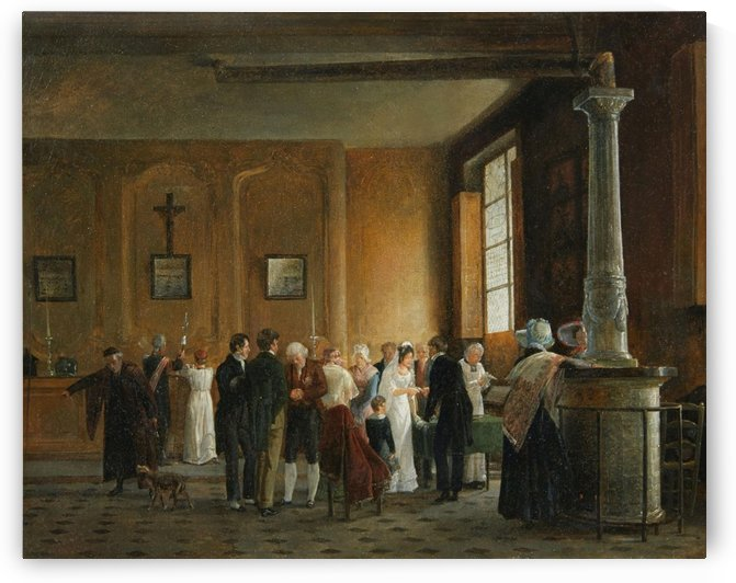 A holy communion for a marriage by Auguste-Xavier Leprince