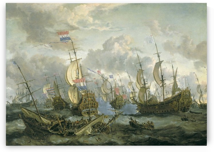 The Four Days Battle by Abraham Storck