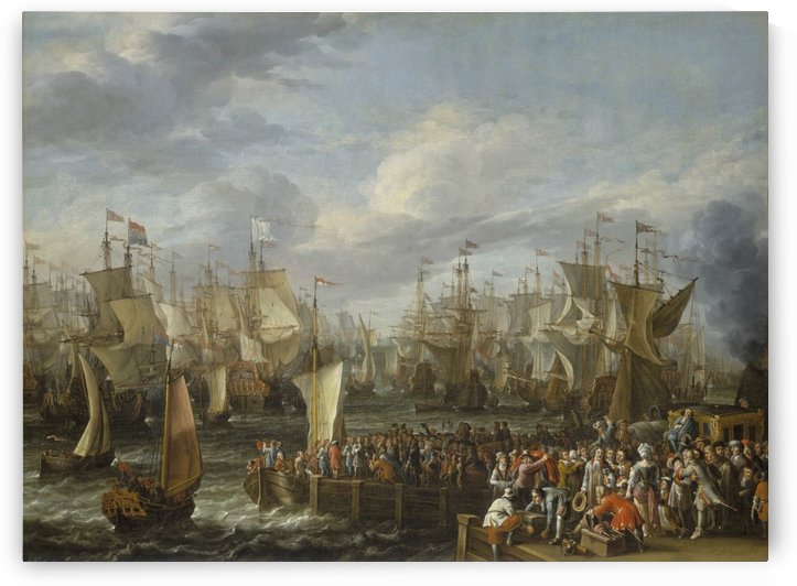 Departure of William III from Hellevoetsluis, 19 October 1688 by Abraham Storck