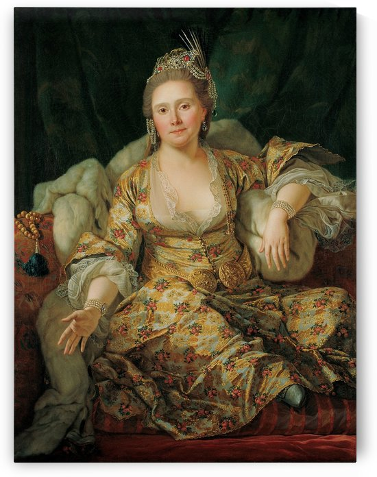 Portrait of the Countess of Vergenne by Antoine de Favray