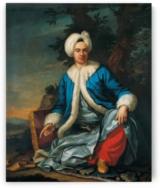 A European figure in Turkish costume by Antoine de Favray