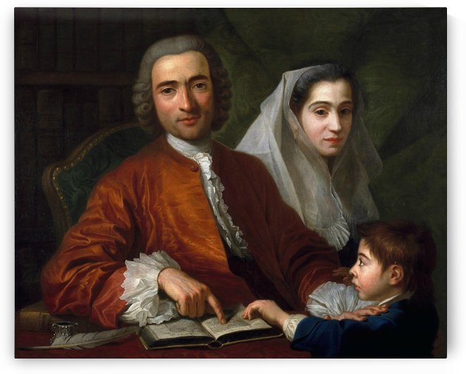 Dr Savatore Bernard with his wife and son by Antoine de Favray