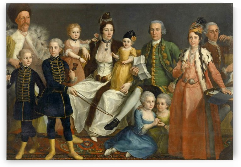 David George van Lennep and Family by Antoine de Favray