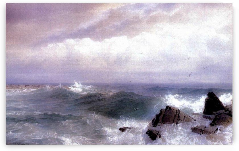 Gull Rock Newport Rhode Island by William Trost Richards
