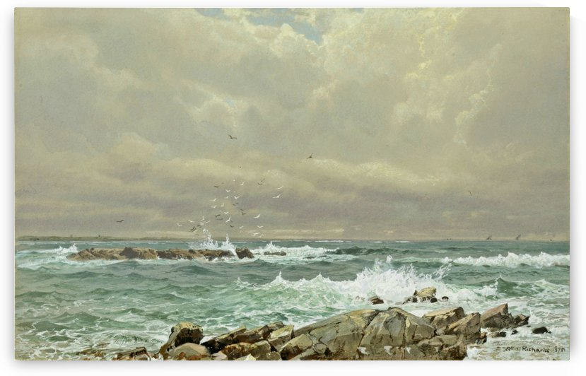 Seascape, 1875 by William Trost Richards