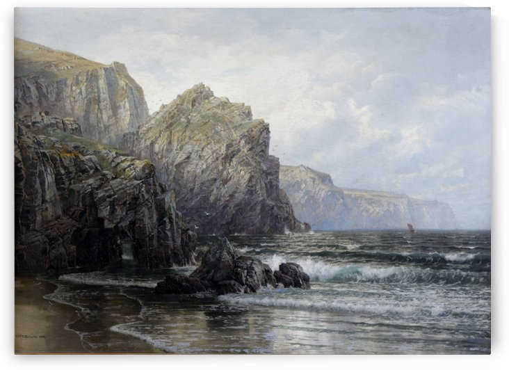 Seascape with rocks by William Trost Richards