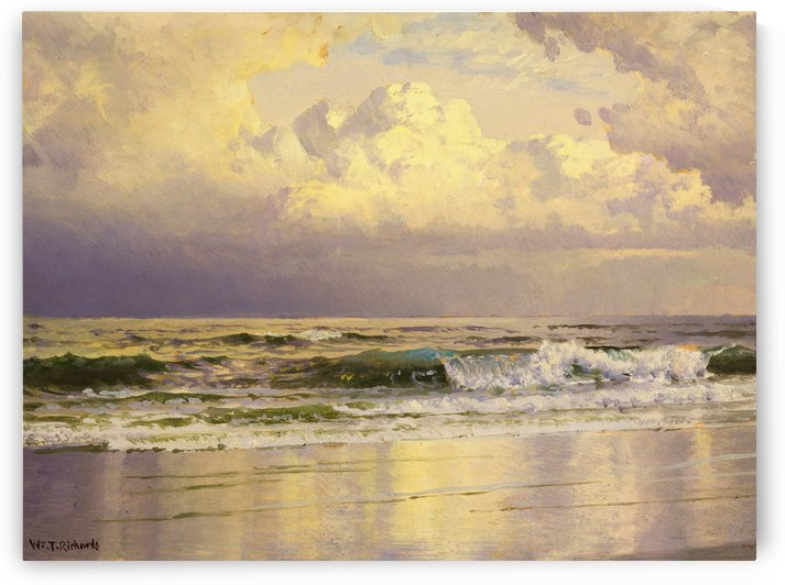 Seascape with sunset by William Trost Richards