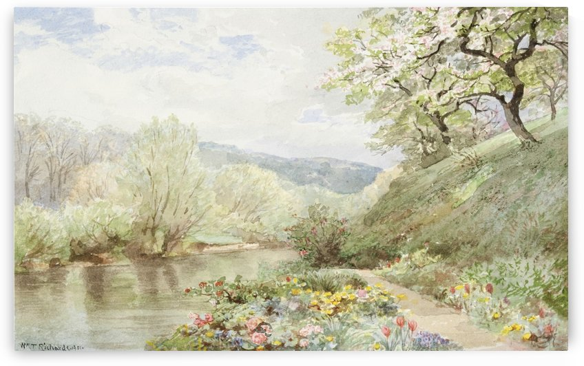 Fidelia Bridges Garden by William Trost Richards