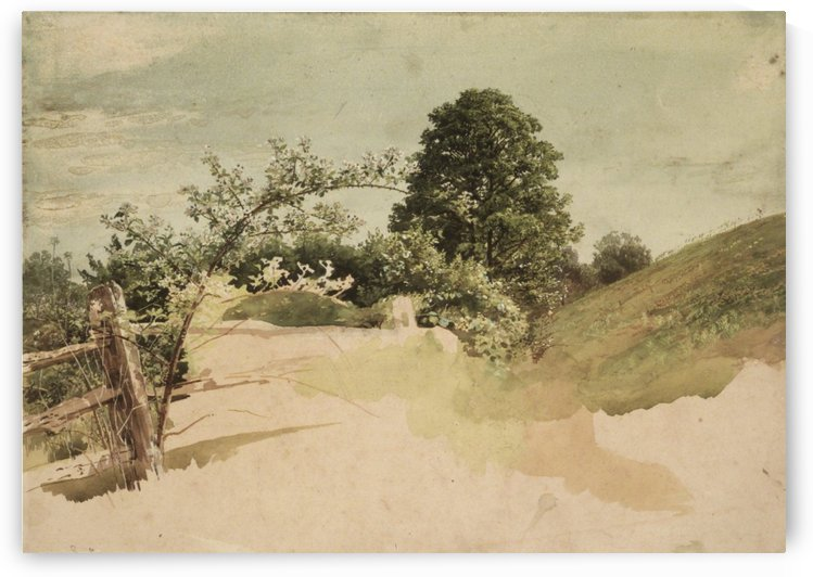 Landscape with tree by William Trost Richards