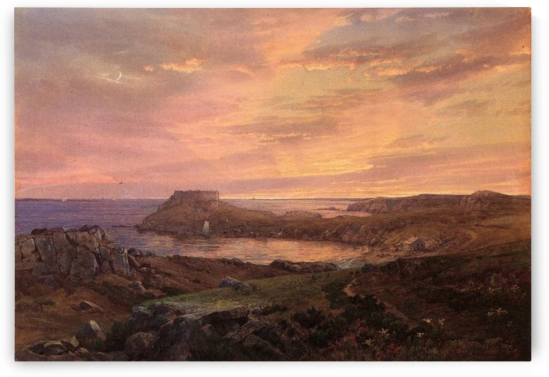 Old fort at Conanicut Rhode Island by William Trost Richards