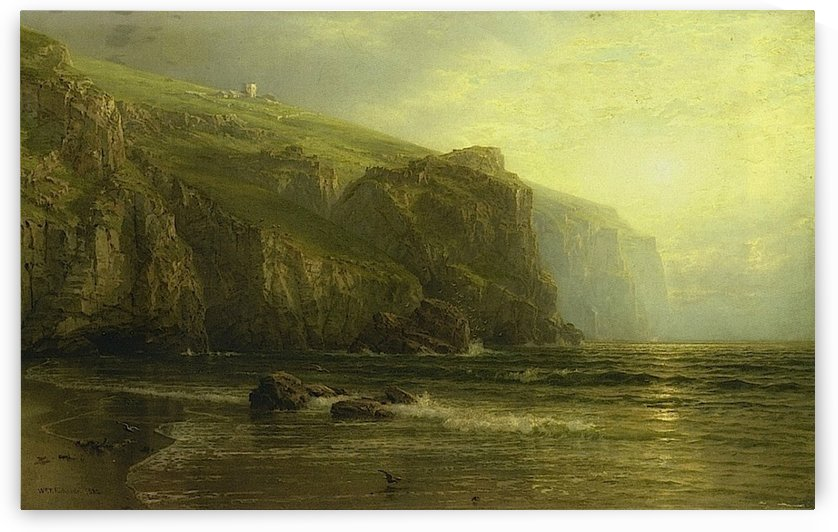 Sunset along the Coast of Cornwallc by William Trost Richards