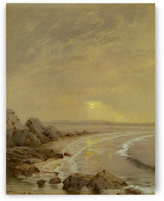 Breaking Sun Rhode Island Coast by William Trost Richards