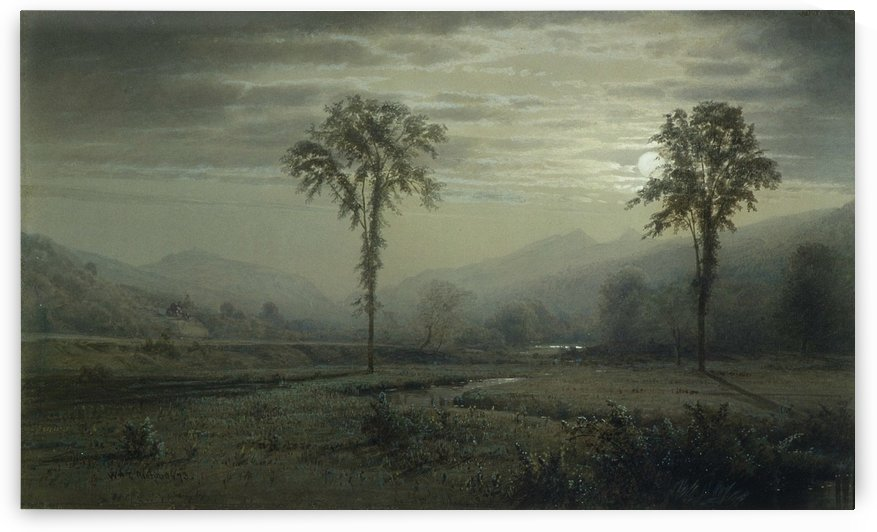 Moonlight on Mount Lafayette, New Hampshire by William Trost Richards