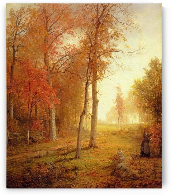 Gathering leaves by William Trost Richards