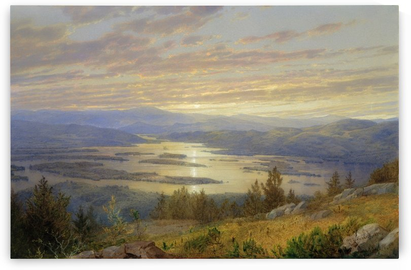 Lake Squam from Red Hill by William Trost Richards