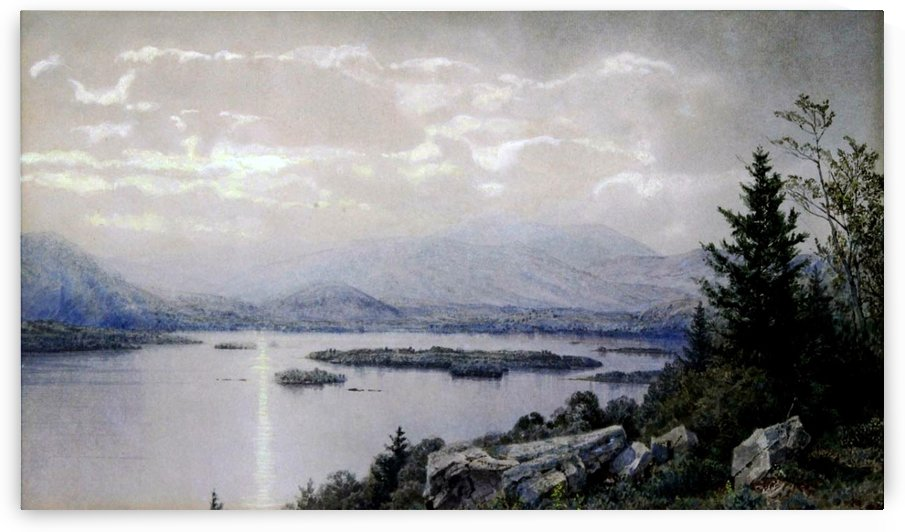 Squam Lake – New Hampshire, 1873 by William Trost Richards