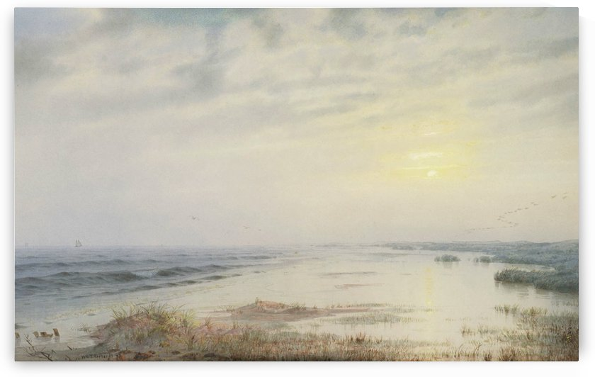 Sundown, Atlantic City, 1874 by William Trost Richards